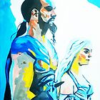 Game of Thrones- Drogo and Khaleesi by drknice
