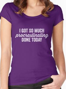 Procrastinating Women's Fitted Scoop T-Shirt