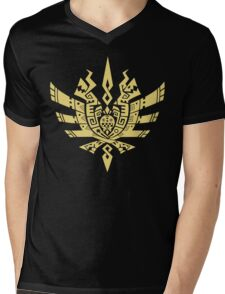 Monster Hunter 4 Logo Mens V-Neck T-Shirt