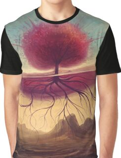 Rhino and the red tree Graphic T-Shirt