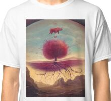 Rhino and the red tree Classic T-Shirt
