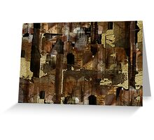 Abstraction from destruction Greeting Card