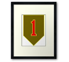 1st Infantry Division, US Army Framed Print