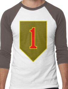 1st Infantry Division, US Army Men's Baseball ¾ T-Shirt