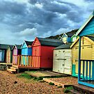 Little boxes by the sea by Cat Perkinton