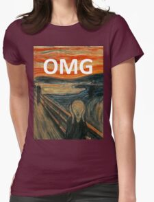OMG The Scream Funny Shirt  Womens Fitted T-Shirt