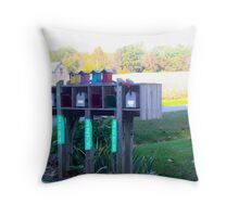 BIRDHOUSES FOR THE AIR MAIL Throw Pillow