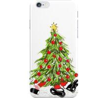 Santa Under Christmas Tree iPhone Case/Skin