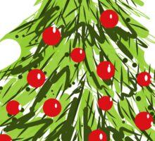 Santa Under Christmas Tree Sticker