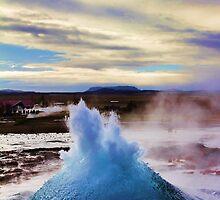 Geyser Erupting by Jasna