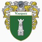 Vasquez Coat of Arms/Family Crest by William Martin