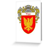 Vega Coat of Arms/Family Crest Greeting Card