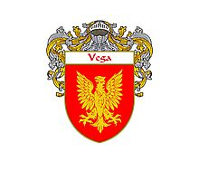 Vega Coat of Arms/Family Crest Photographic Print