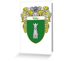 Velez Coat of Arms/Family Crest Greeting Card