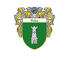 Velez Coat of Arms/Family Crest Photographic Print