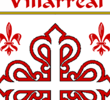 Villarreal Coat of Arms/Family Crest Sticker