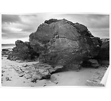Rock Formation, Ballyliffin Poster