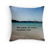 Because of love..I can fly Throw Pillow