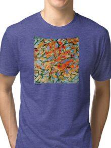 """Fury"" Digital Calligraphy T-Shirt Tri-blend T-Shirt"