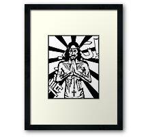 Zombie Jesus Framed Print