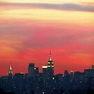 Autumn dusk in New York City  by Alberto  DeJesus