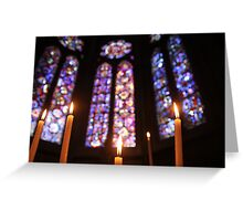 Candles in the cathedral in Beauvais, France - 2015 Greeting Card