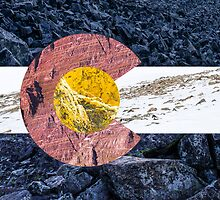 Colorado State Flag - Mountain Textures by Aaron Spong
