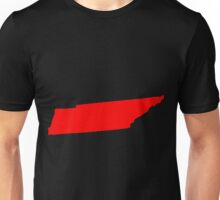 Tennessee in Red Unisex T-Shirt