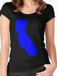 California in Blue Women's Fitted Scoop T-Shirt