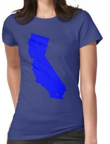 California in Blue Womens Fitted T-Shirt