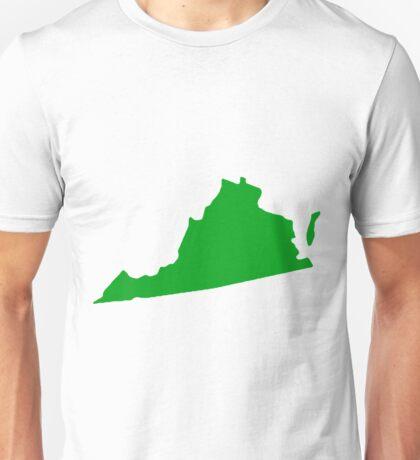 Virginia in Green Unisex T-Shirt