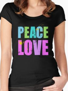 Inked Peace and Love Women's Fitted Scoop T-Shirt
