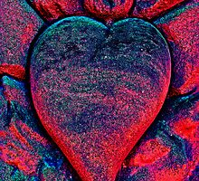 Flaming Heart by Valerie  Fuqua