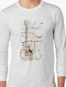 guitar cracks Long Sleeve T-Shirt