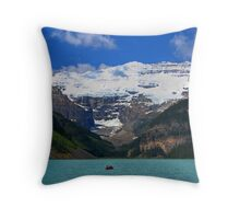 Victoria Glacier  and Lake Louise Throw Pillow