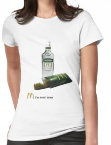 mc vodka Womens Fitted T-Shirt