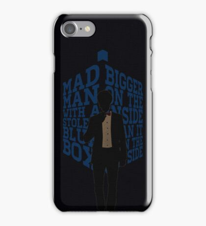 Mad Man With A Blue Box iPhone Case/Skin
