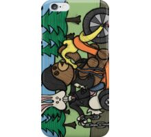 Teddy Bear And Bunny - Easy Rider iPhone Case/Skin