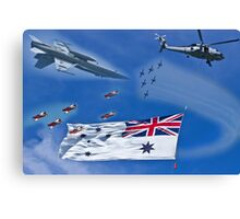 Aircraft from Sydney Navy Review Canvas Print