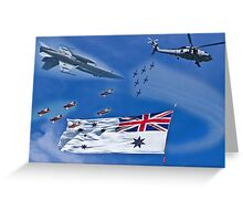 Aircraft from Sydney Navy Review Greeting Card