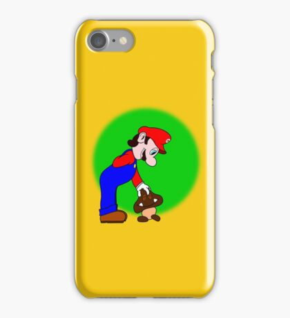 Mario showing his soft side iPhone Case/Skin
