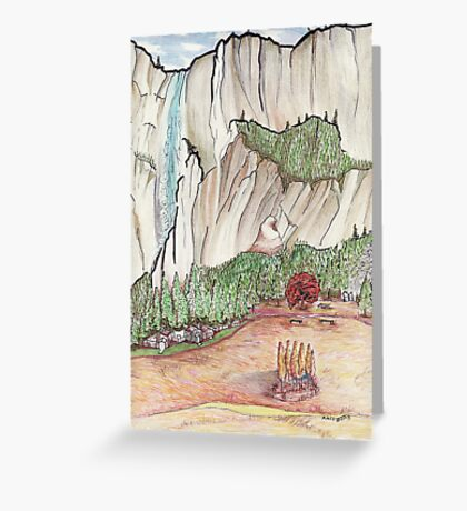 Graceful Yosemite Valley Greeting Card