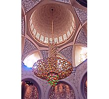 Mosque Chandelier Photographic Print