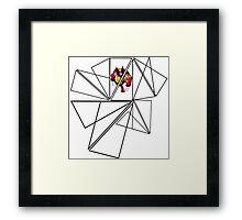 Wolverine Geometric Framed Print