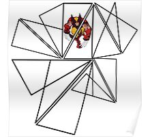 Wolverine Geometric Poster