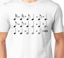 Music Math BLACK Unisex T-Shirt