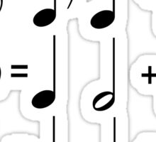 Music Math BLACK Sticker