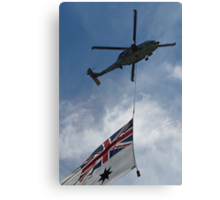 SeaHawk and Ensign Canvas Print