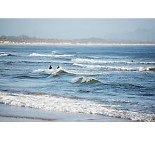 Byron Surfers  Photographic Print