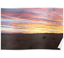 Sunset on the Midland Plains Poster